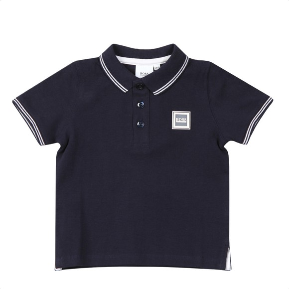 BOSS Baby Boys Blue J05846 Square Badge Polo