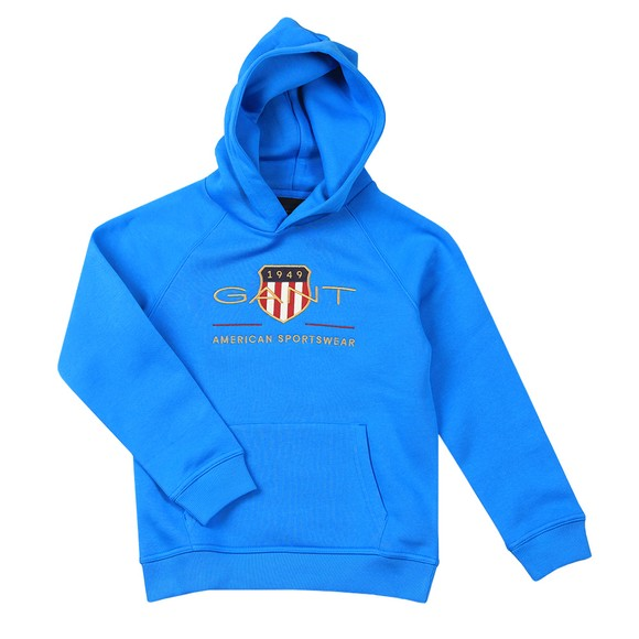Gant Boys Blue Archive Shield Hoody main image