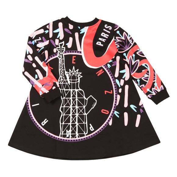 Kenzo Kids Girls Black Katey Tokyo Sweatshirt Dress