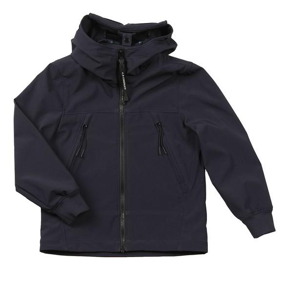 C.P. Company Undersixteen Boys Blue Lightweight Shell Goggle Jacket main image