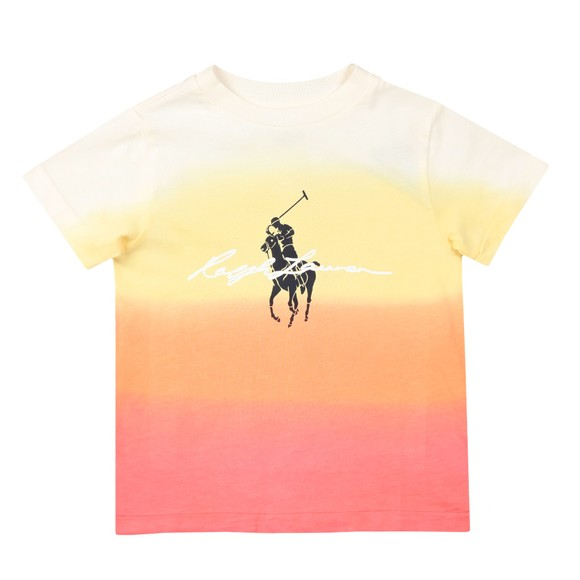 Polo Ralph Lauren Boys Pink Dip Dyed T Shirt