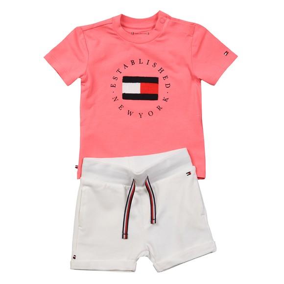 Tommy Hilfiger Kids Girls Pink Baby Established Sweat Short Set main image