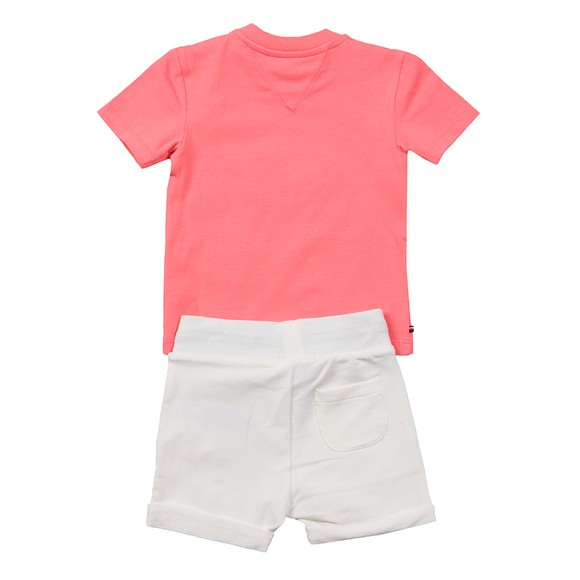 Tommy Hilfiger Kids Girls Pink Baby Established Sweat Short Set