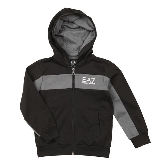EA7 Emporio Armani Boys Black Block Stripe Tracksuit main image