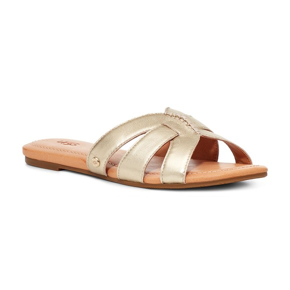 Ugg Womens Gold Teague Leather Slide