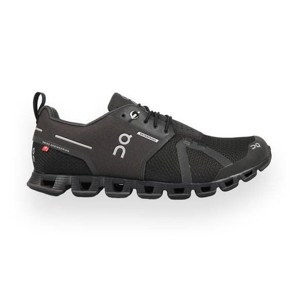 On Running Mens Black Cloud Waterproof Trainer