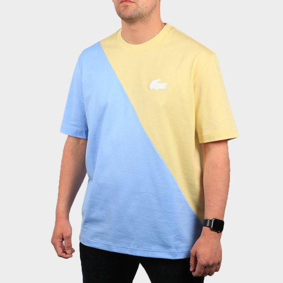 Lacoste Live Mens Yellow TH9183 2 Tone T Shirt