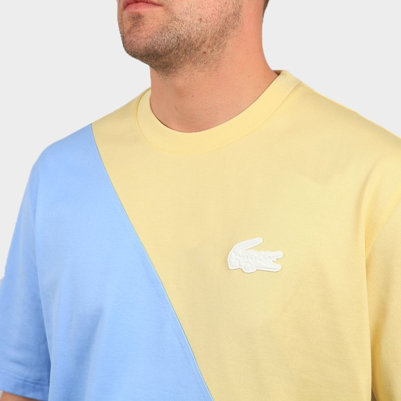 Lacoste Live Mens Yellow TH9183 2 Tone T Shirt main image