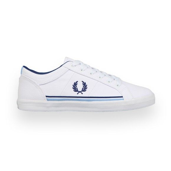 Fred Perry Mens White Baseline Trainer