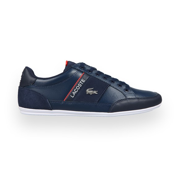 Lacoste Mens Blue Chaymon 0721 Leather Trainer