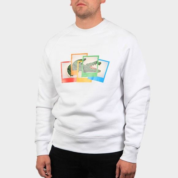 Lacoste x Polaroid Mens White SH2183 Photo Sweatshirt