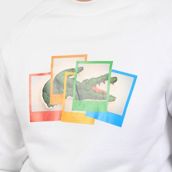 Lacoste x Polaroid Mens White SH2183 Photo Sweatshirt main image