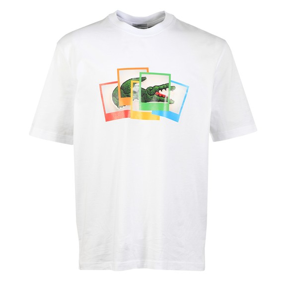Lacoste x Polaroid Mens White TH2184 Photo T Shirt
