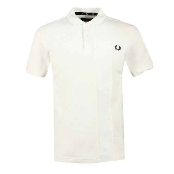 Fred Perry Mens Off-White Tonal Stripe Polo Shirt