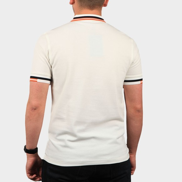 Fred Perry Mens Off-White Abstract Tipped Polo Shirt main image