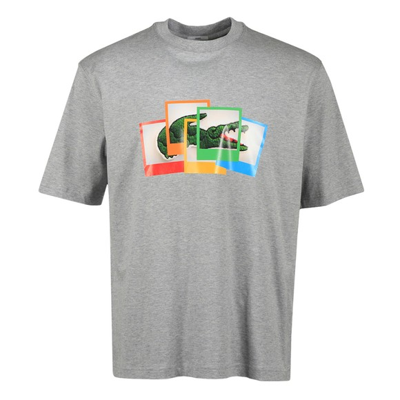 Lacoste x Polaroid Mens Grey TH2184 Photo T Shirt