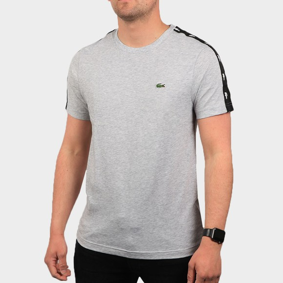 Lacoste Mens Grey TH5172 Tape T Shirt