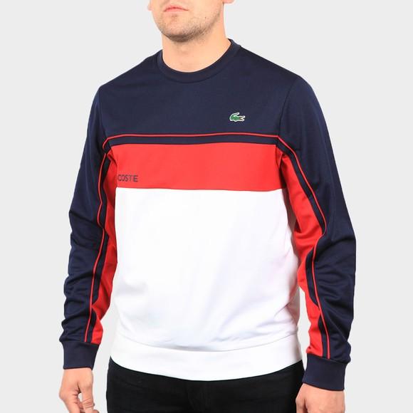 Lacoste Sport Mens Blue SH9569 Panel Sweatshirt