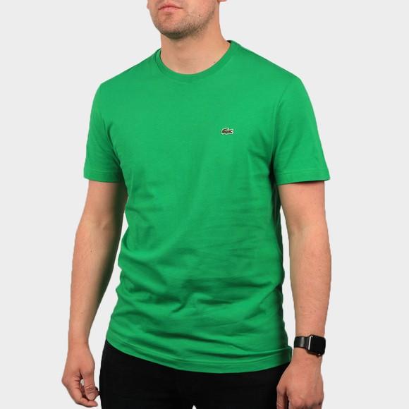 Lacoste Mens Green TH2038 Plain T-Shirt
