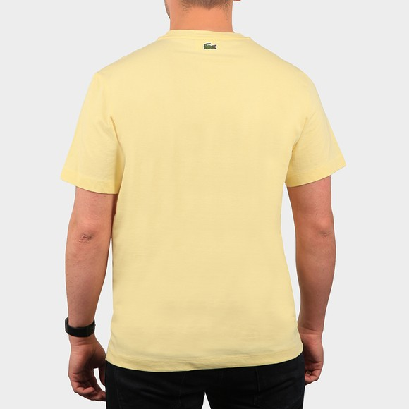 Lacoste Mens Yellow TH0453 Oval Logo T Shirt main image