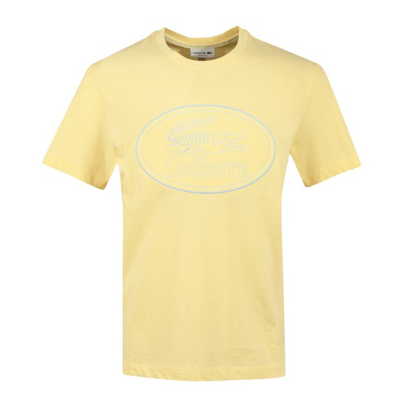 Lacoste Mens Yellow TH0453 Oval Logo T Shirt