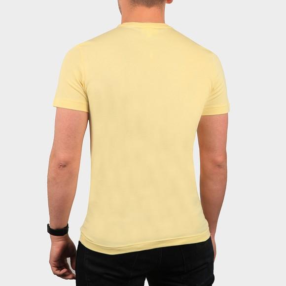 Lacoste Mens Yellow TH2038 Plain T-Shirt main image
