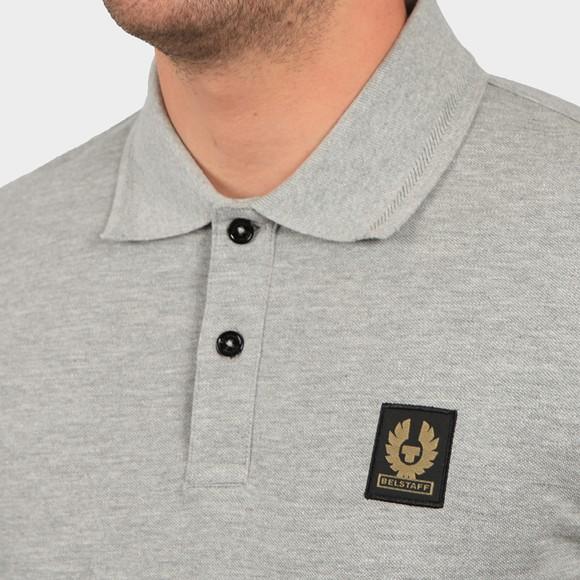 Belstaff Mens Grey Short Sleeve Polo Shirt main image