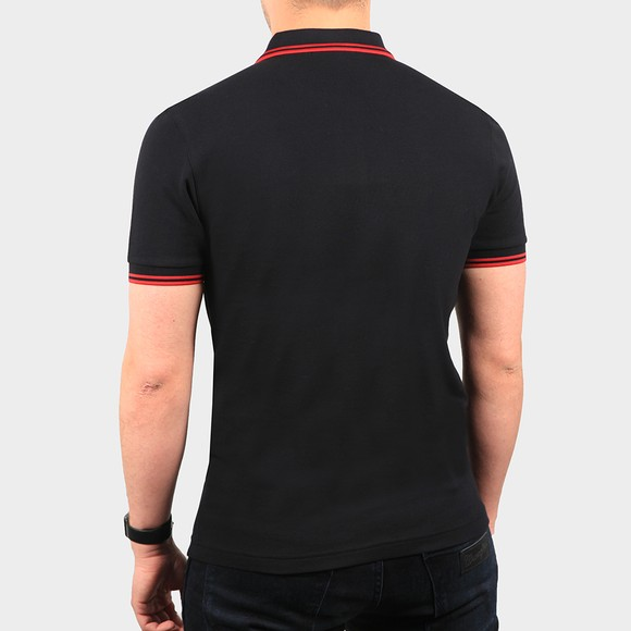 Fred Perry Mens Black Graphic Applique Polo Shirt main image