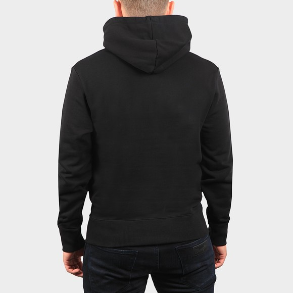 Fred Perry Mens Black Embroidered Hooded Sweatshirt main image