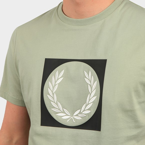 Fred Perry Mens Green Laurel Wreath Graphic T Shirt main image