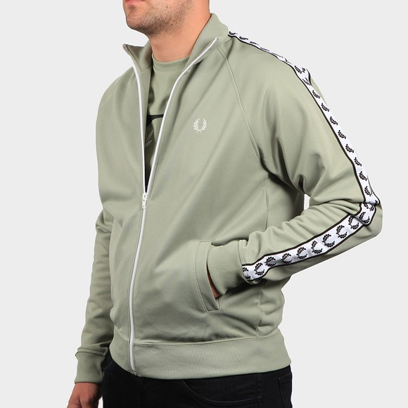 Fred Perry Sportswear Mens Green Laurel Wreath Track Top