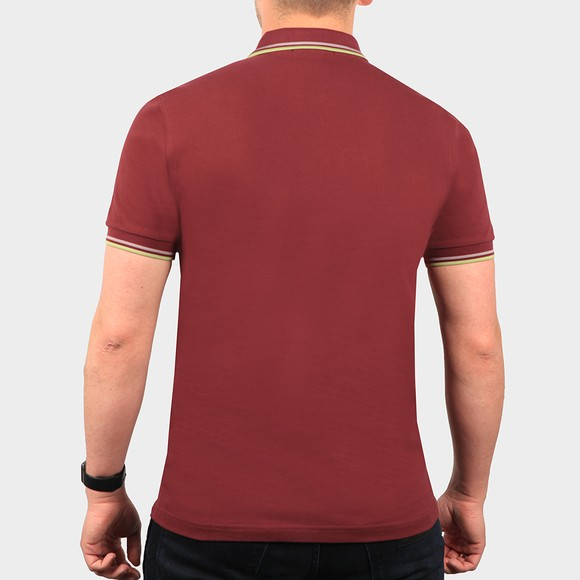 Fred Perry Mens Red Twin Tipped Polo Shirt main image