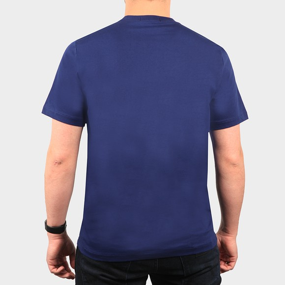 Fred Perry Mens Blue Embroidered T Shirt main image