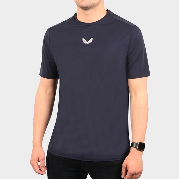 Castore Mens Blue Tech Performance T-Shirt