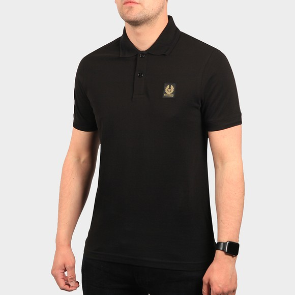 Belstaff Mens Black Short Sleeve Polo Shirt