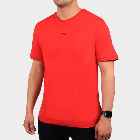 HUGO Mens Red Diragolino T-Shirt