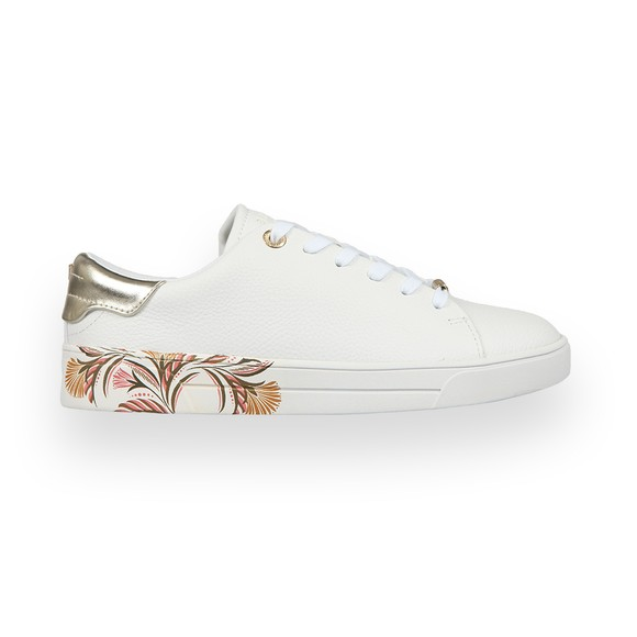 Ted Baker Womens White Tiriey Deco Printed Sole Trainer