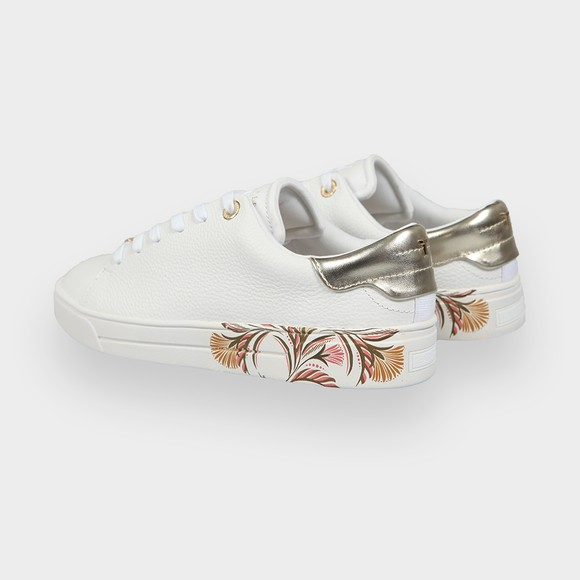 Ted Baker Womens White Tiriey Deco Printed Sole Trainer main image
