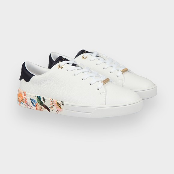 Ted Baker Womens White Azelea Decadence Printed Cupsole Trainer main image