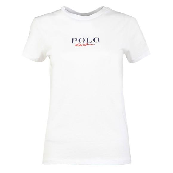 Polo Ralph Lauren Womens White Mini Embroidered T-Shirt