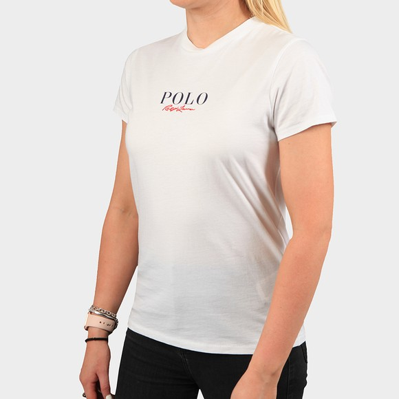 Polo Ralph Lauren Womens White Mini Embroidered T-Shirt