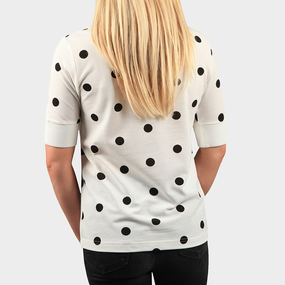 Fred Perry Womens Off-White Spot Print Pique T Shirt main image