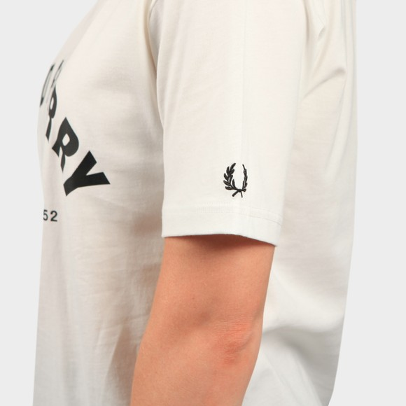 Fred Perry Womens Off-White Arch Branded T Shirt main image