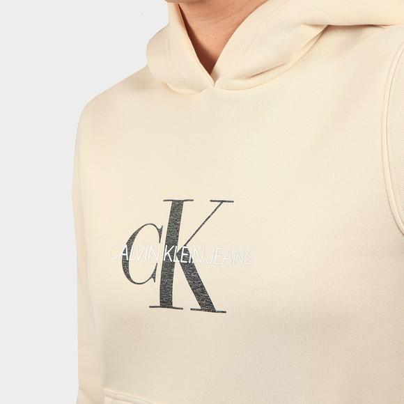 Calvin Klein Jeans Womens Off-White Reflective Monogram Overhead Hoody main image