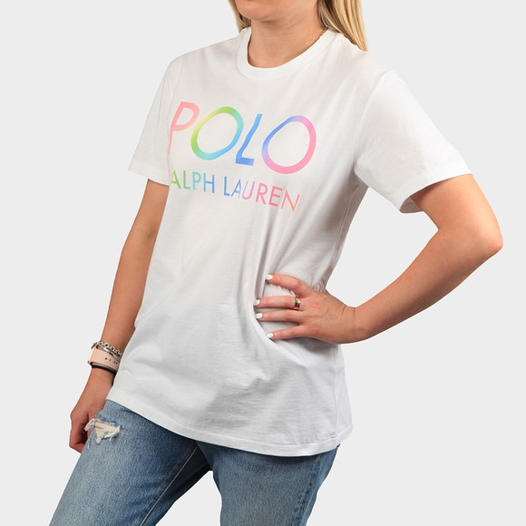 Polo Ralph Lauren Womens White Big Polo Logo T Shirt