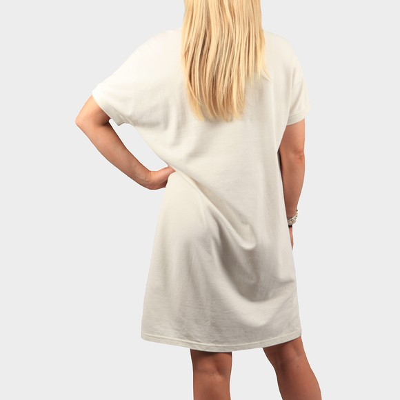 Fred Perry Womens Off-White Boxy Pique T Shirt Dress main image