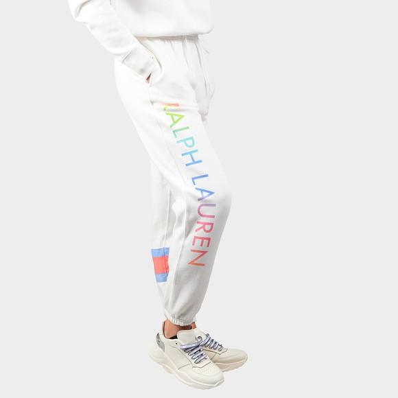 Polo Ralph Lauren Womens White Branded Side Logo Jogger