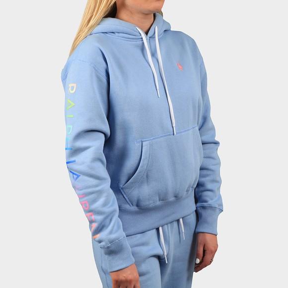 Polo Ralph Lauren Womens Blue Vintage Sleeve Logo Hoody
