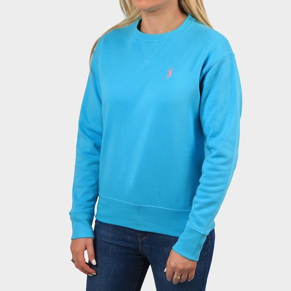 Polo Ralph Lauren Womens Blue Light Crew Sweatshirt