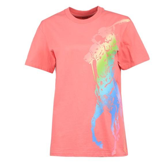 Polo Ralph Lauren Womens Pink Exp Big PP Logo T Shirt